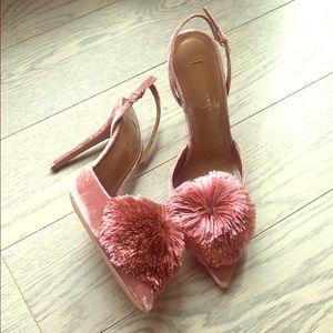 Aquazurra velvet heels